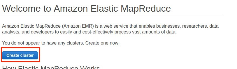 Part 2: How to create EMR cluster with Apache Spark and Apache